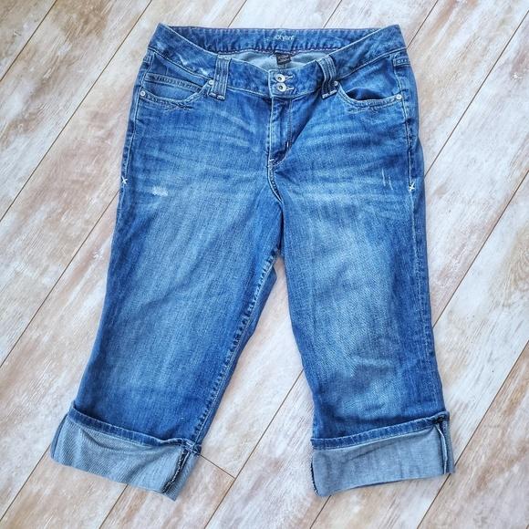 Lane Bryant Denim - Lane Bryant Cropped Cuffed Jeans